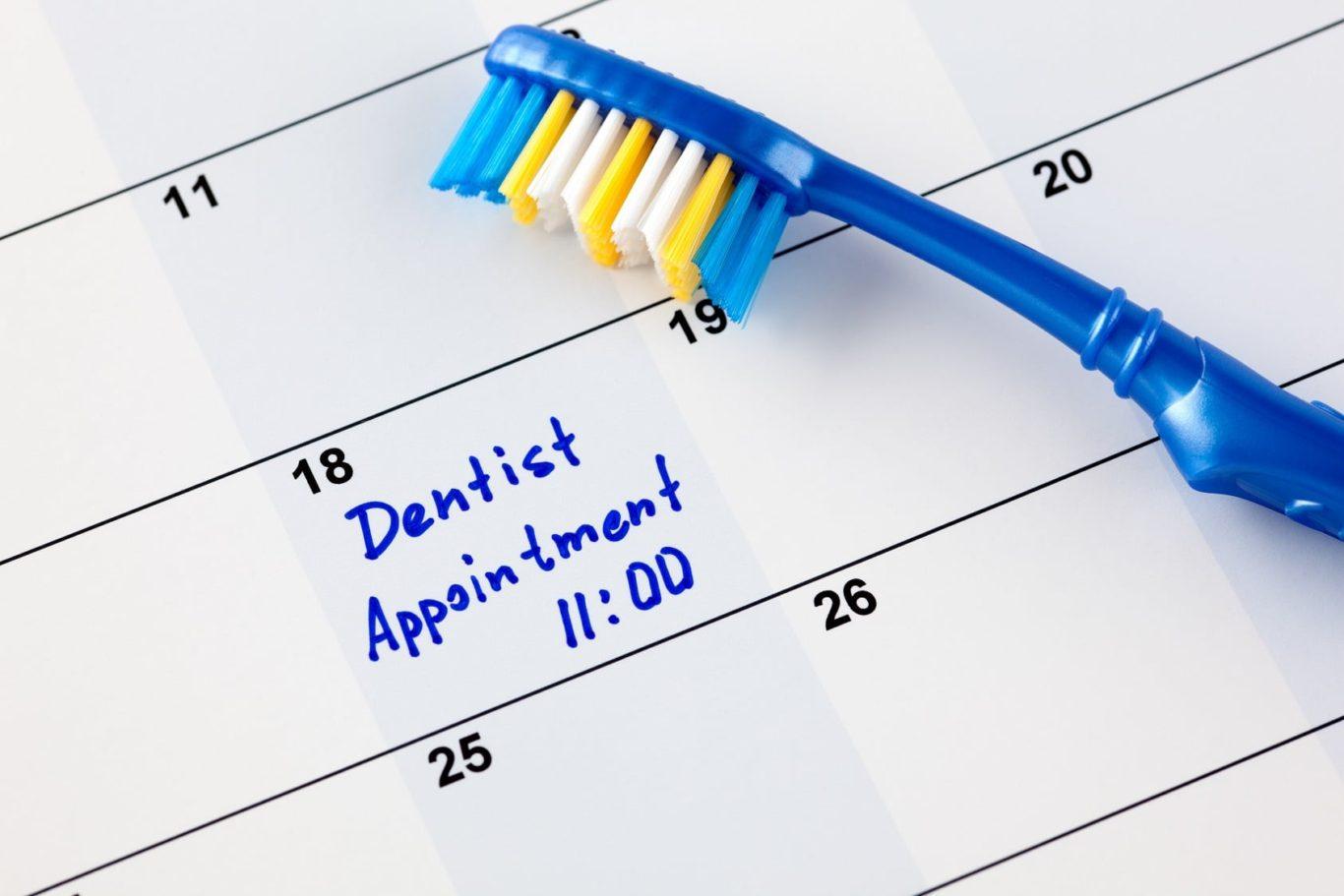 Dental Appointment Reminder on Calendar