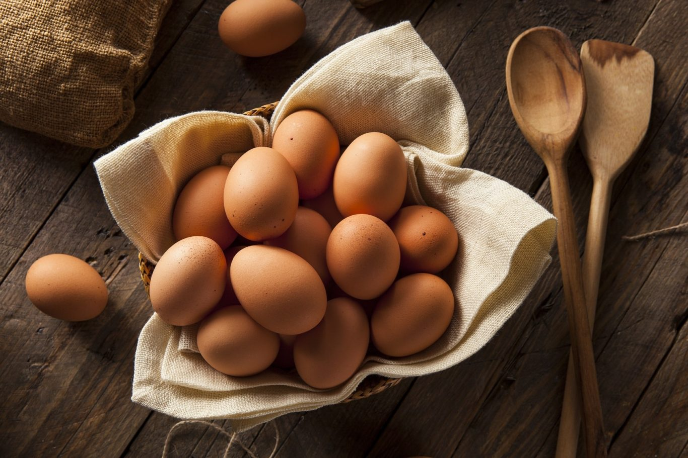 Bowel of Raw Organic Brown Eggs