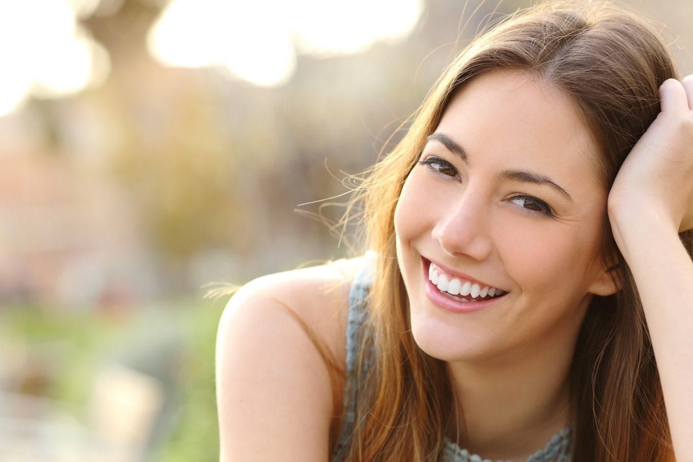Woman Smiling Bright White Teeth